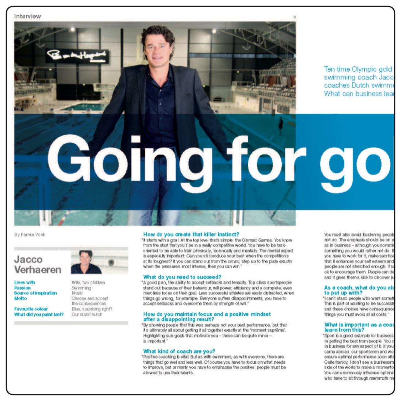 Hoofdredactie; sportcoach; redactie; personeelsblad; management magazine