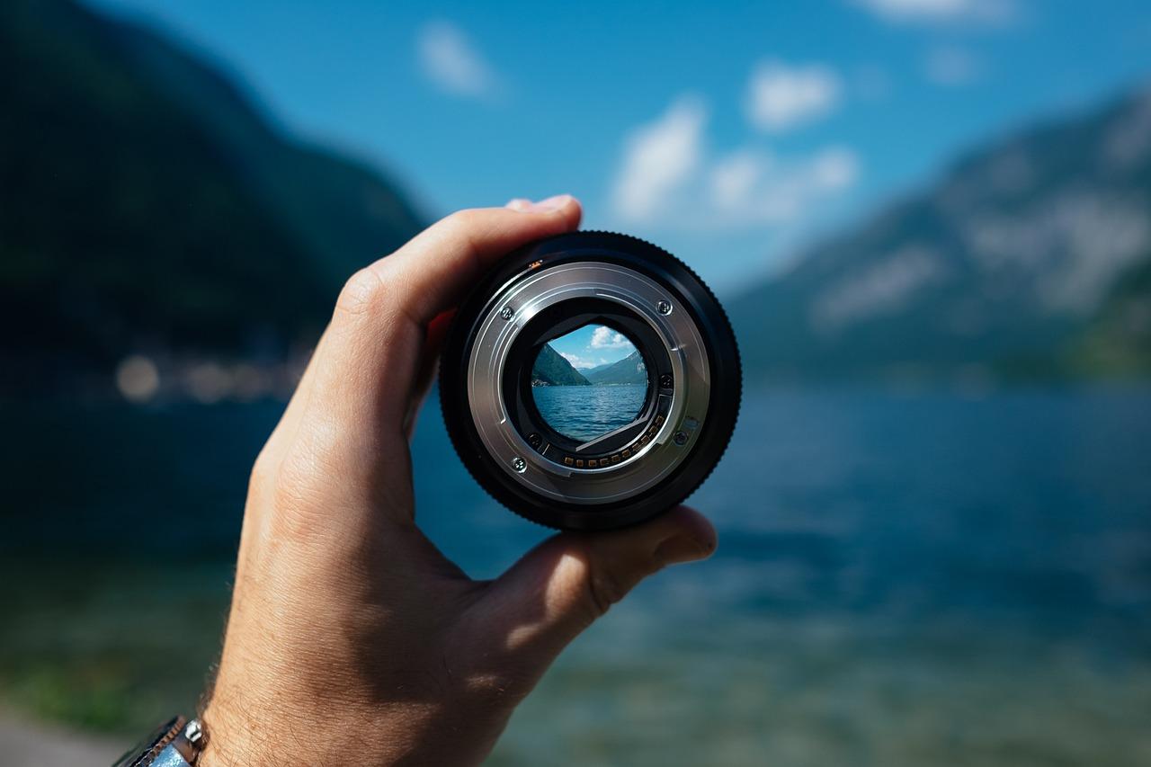 Cameralens met focus